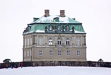 Danish building in the snow