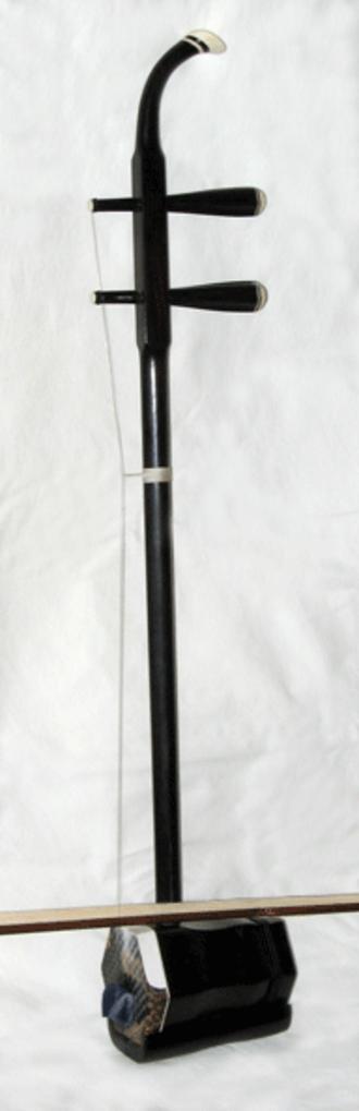 Huqin - Side view of an erhu, a common huqin