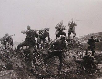 Greco-Turkish War (1919–1922) - Greek infantry charge in river Gediz during the war
