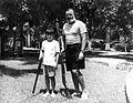 Ernest and Gregory Hemingway in Cuba c1950.jpg