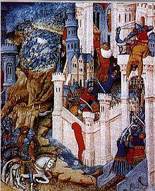 Вторжение вестготов в Рим (миниатюра XV века)