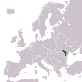 Location of Moldova