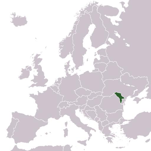 Lage von Moldavien in Europa