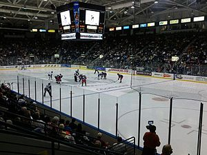 Germain Arena - Germain Arena hosting a hockey game -- the Florida Everblades vs. the Elmira Jackals, December 10, 2011