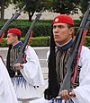 Evzones at Changing of the Guard, Syntagma Square, Athens (cropped).JPG