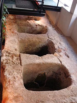 Economic history of Portugal - Roman fish preserving plant, Setúbal.