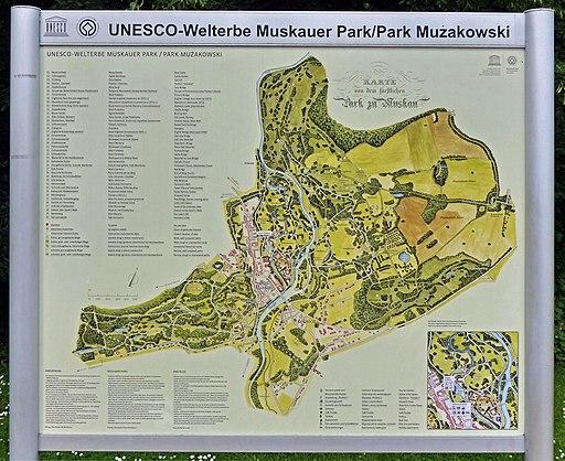 Karte Muskauer Park (Fürst-Pückler-Park) Bad Muskau