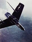 F7U-1 Cutlass in flight near Naval Air Station Patuxent River, circa in the early 1950s (NH 101803-KN).jpg