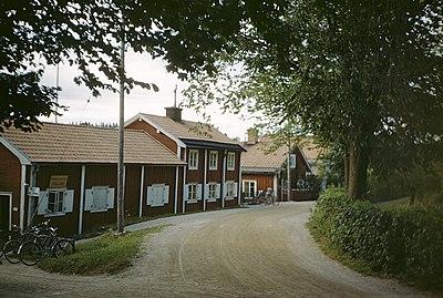 Faluröda hus i Falun