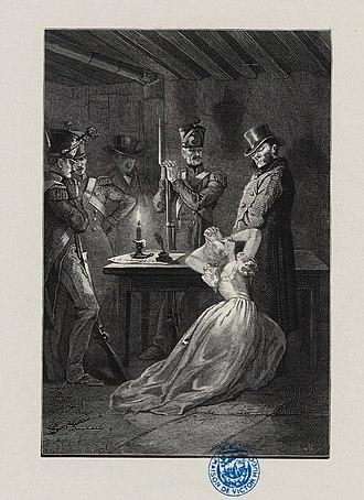 Fantine - Fantine at Javert's feet