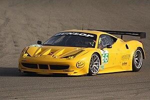 Français : Ferrari 458 italia equipe JMW ( pil...