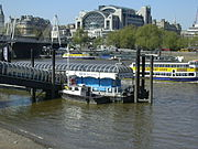 One of the many piers for joining sightseeing boat trips.