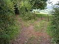 Field entrance off Coxbury Lane - geograph.org.uk - 1498639.jpg