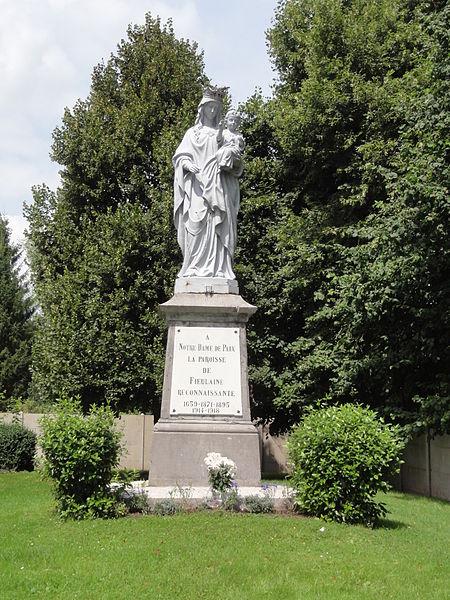 Fieulaine (Aisne) statue Notre Dame de Paix