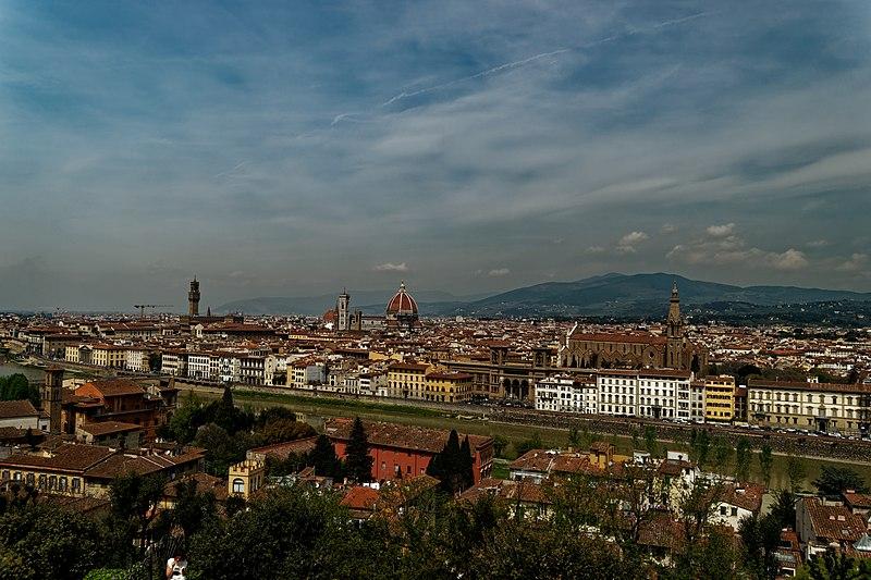 Italian Florence: Piazetto Beneath Piazzale