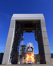 First Delta IV Heavy launch from SLC-6 at Vandenberg AFB