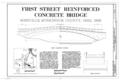 First Street Reinforced Concrete Bridge, Spanning Moxahala Creek at First Street (CR 7), Roseville, Muskingum County, OH HAER OHIO,60-ROSE,1- (sheet 1 of 1).png