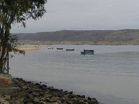 Fisher boats Restinga peninsula, Angola.jpg