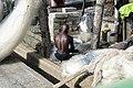 Fisherman Repairs His Nets - Cape Coast Castle - Cape Coast - Ghana (4716950000).jpg