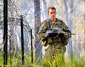 7th Battalion, Royal Australian Regiment - A 7RAR soldier on exercise at Shoalwater Bay 2011