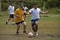 Flickr - Official U.S. Navy Imagery - Sailors from USS New Orleans play soccer with Colombian sailors and marines..jpg