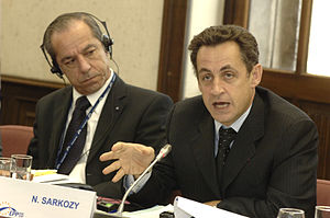 Lawrence Gonzi - Lawrence Gonzi with Nicolas Sarkozy, at an EPP summit in December 2006.