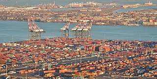Intermodal rail yards serving New York Harbor