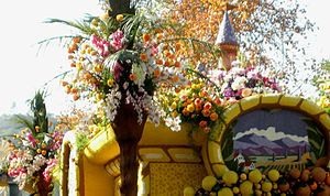 Flowers used in a 2009 Rose Parade float, Pasa...