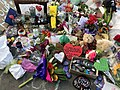 Flowers and tributes at Linwood Avenue memorial for Christchurch mosque shootings, 20 March 2019.jpg