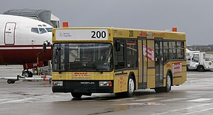 Bus transport in Berlin - A bus in Berlin Tegel Airport