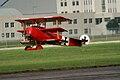Fokker Dr.I Manfred Richthofen Landing 09 Dawn Patrol NMUSAF 26Sept09 (14597949284).jpg