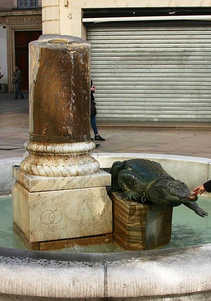 Crocodile Fountain in Market Square