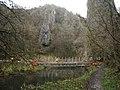 Footbridge at Ilam Rock, Dovedale - geograph.org.uk - 1052941.jpg