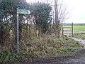 Footpath on Pested Bars Road - geograph.org.uk - 1131108.jpg