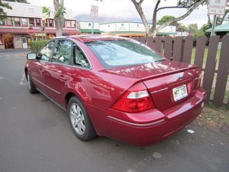 Ford Five Hundred - Ford Five Hundred (rear 3/4)