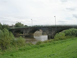 William Weston (engineer) - The bridge at Gainsborough, Lincolnshire, Weston's only known work in England