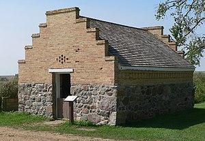 National Register of Historic Places listings in Marshall County, South Dakota - Image: Fort Sisseton magazine from NE 1