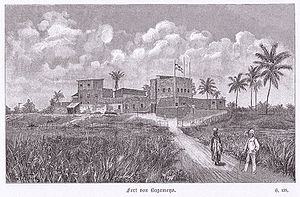 German East Africa - Fort Bagamoyo, c. 1891