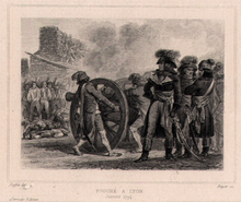 Fouché executing Federalist prisoners in Lyon with cannon