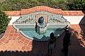 Fountain with tile work, Adamson house.jpg