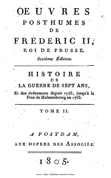 File:Frédéric II de Prusse - Histoire de la guerre de Sept Ans.djvu