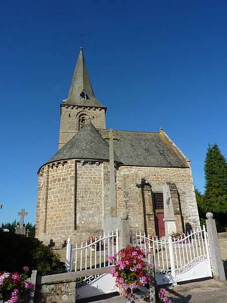 Église de Saint-Loup, Manche, France.