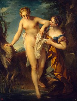 François Lemoyne - Woman Bathing - WGA12659