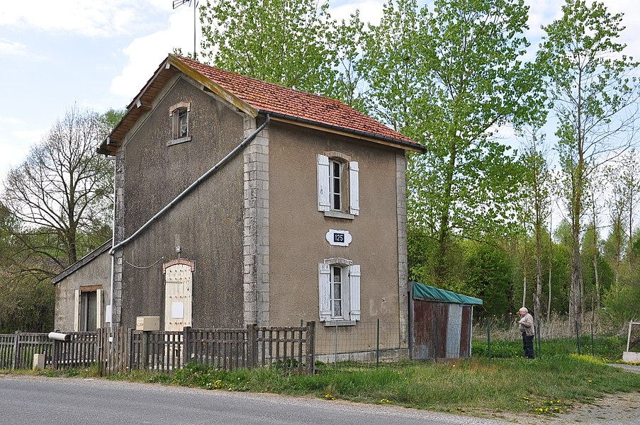 Watchman's House No. 125 along the abandoned railway from Amagne - Lucquy to Revigny in northern France. Here lived the signalman; he opened and closed the barriers when a train passed. The house is near the abandoned station of Villers-en-Argonne/Daucourt and is located in the municipality of Châtrices (Marne department).