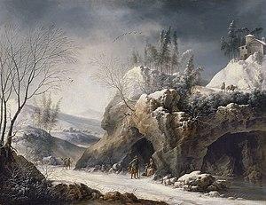 Francesco Foschi - Image: Francesco Foschi Paesaggio invernale con una famiglia di contadini
