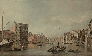 The Grand Canal in Venice with Palazzo Bembo