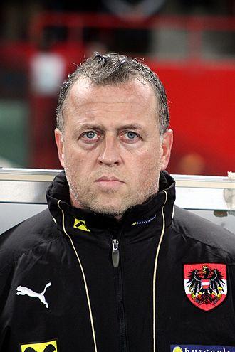 Franz Wohlfahrt (footballer) - Image: Franz Wohlfahrt, Österreichische Fußballnationalmanns chaft (01)
