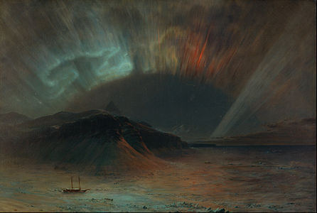 Aurora Borealis, a notable painting by Frederic Edwin Church