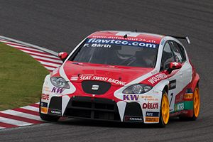 Fredy Barth - Barth driving for SEAT Swiss Racing at the 2011 FIA WTCC Race of Japan.
