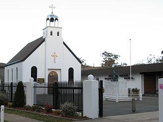 Serbian Orthodox Eparchy of Australia and New Zealand - Image: Free Serbian Orthodox Church (St George), Canberra 02